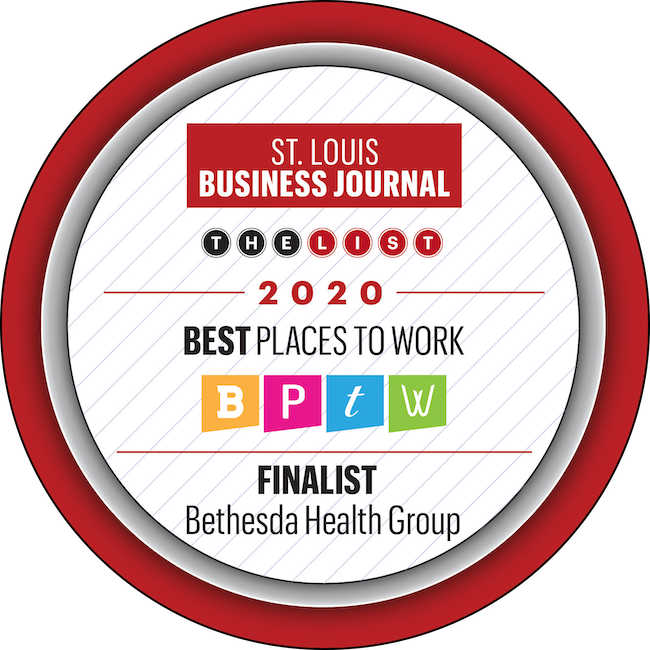 """Bethesda Health Group is a St. Louis Business Journal """"Best Places to Work"""" Finalist in 2020."""