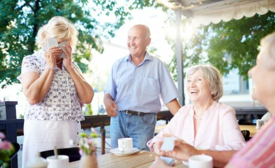 Consider independent senior living for an active an engaging lifestlye, and a group of like-minded friends, like pictured here.