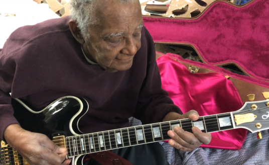 St. Andrews and Bethesda Home Health occupational therapy patient Eugene Fluker playing his prized guitar after weeks of occupational therapy.