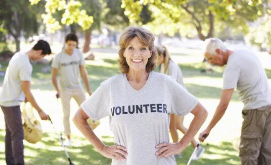 A group of senior volunteers.