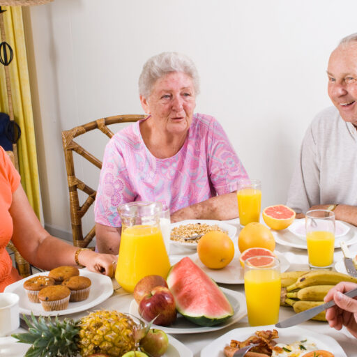 Building friendships at the Bethesda Terrace Breakfast Club. The senior residents at Bethesda Terrace gather for breakfast and conversation every morning.