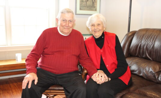 Don and Margy Patterson, residents of Bethesda Gardens, celebrates Valentine's Day.