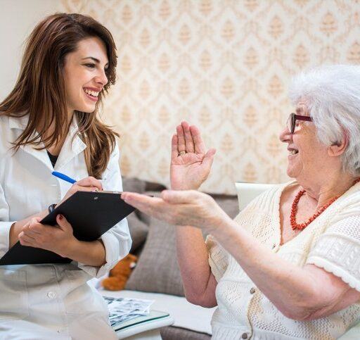 Knowing the difference between Home Health and Home Care (or Private Duty) can help you determine the right care option for your senior loved one. Here, a Home Health nurse talks to her senior patient.