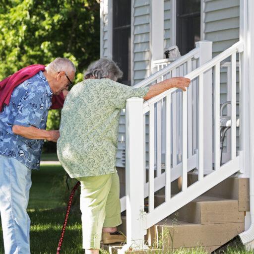 Aging in place can save costs on senior care. However, the level of care needed will determine whether a senior should stay in their family home or age in place at a senior living community.