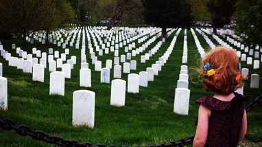 At Bethesda, we believe in honoring Veteran loved ones—from celebrating Veterans Day to military funerals. Read this family's struggle to give their Father a final salute, when unaware of the Veterans benefits available. Here, Emma is pictured at the Arlington National Cemetery.