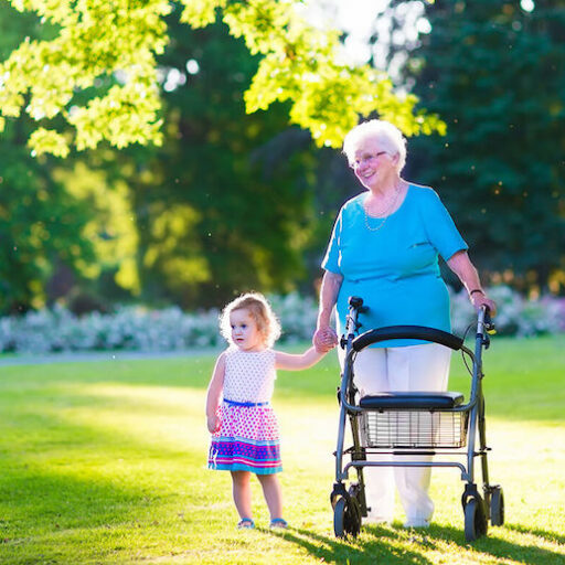 A senior woman takes on the challenges of aging