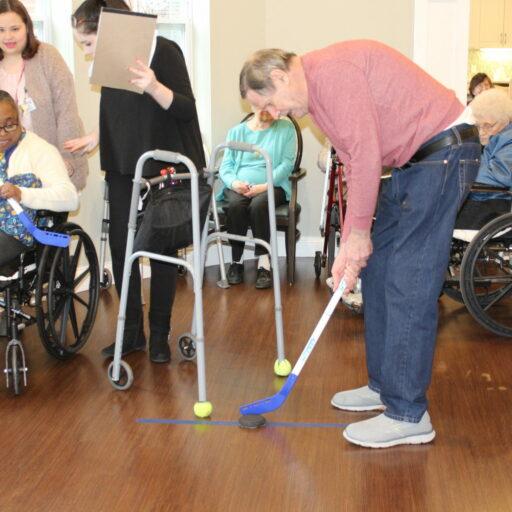 Seniors enjoying social activities