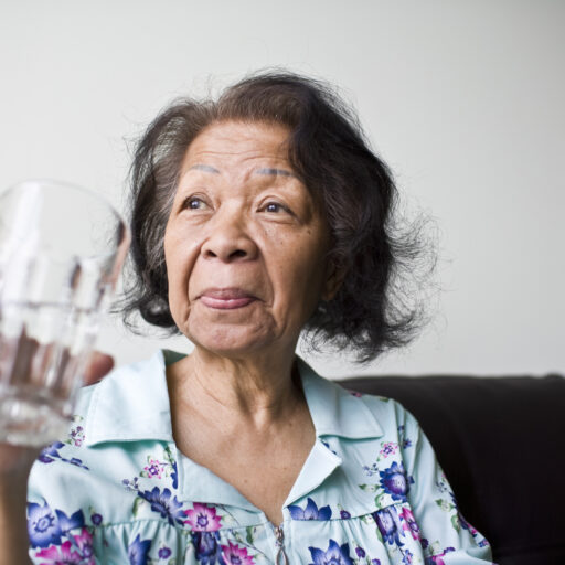 drinking water will help preventing dehydration in seniors