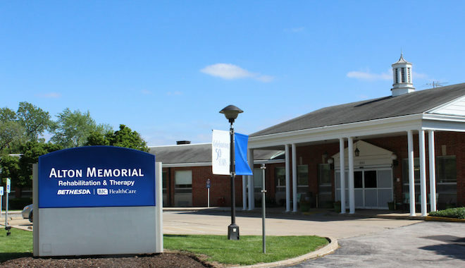 The outside of Alton Memorial skilled nursing facility