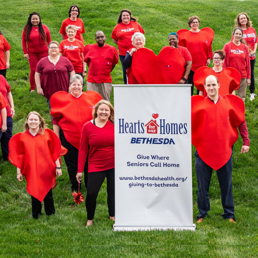 A group of volunteers and contributors to Hearts for Our Homes