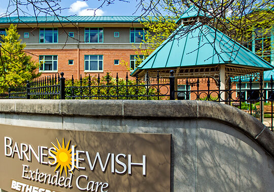Outside of the Barnes Jewish Extended Care facility