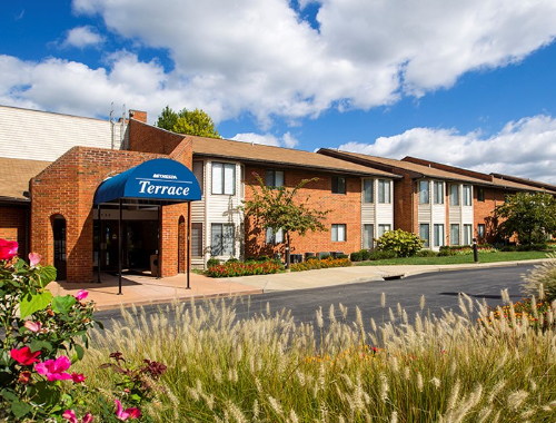 Outside of Bethesda Terrace independent living community