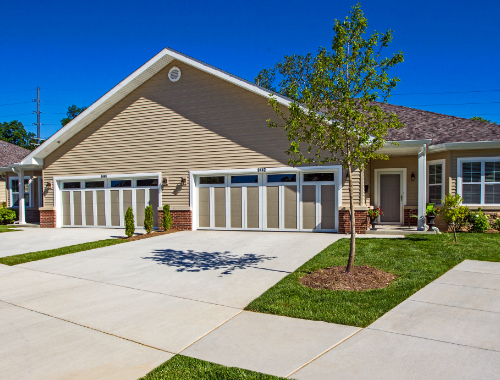 Outside of The Oaks independent living community