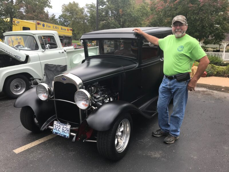 Roger Francis brings his Model T Ford to the Annual Fall Festival at Bethesda Meadow.