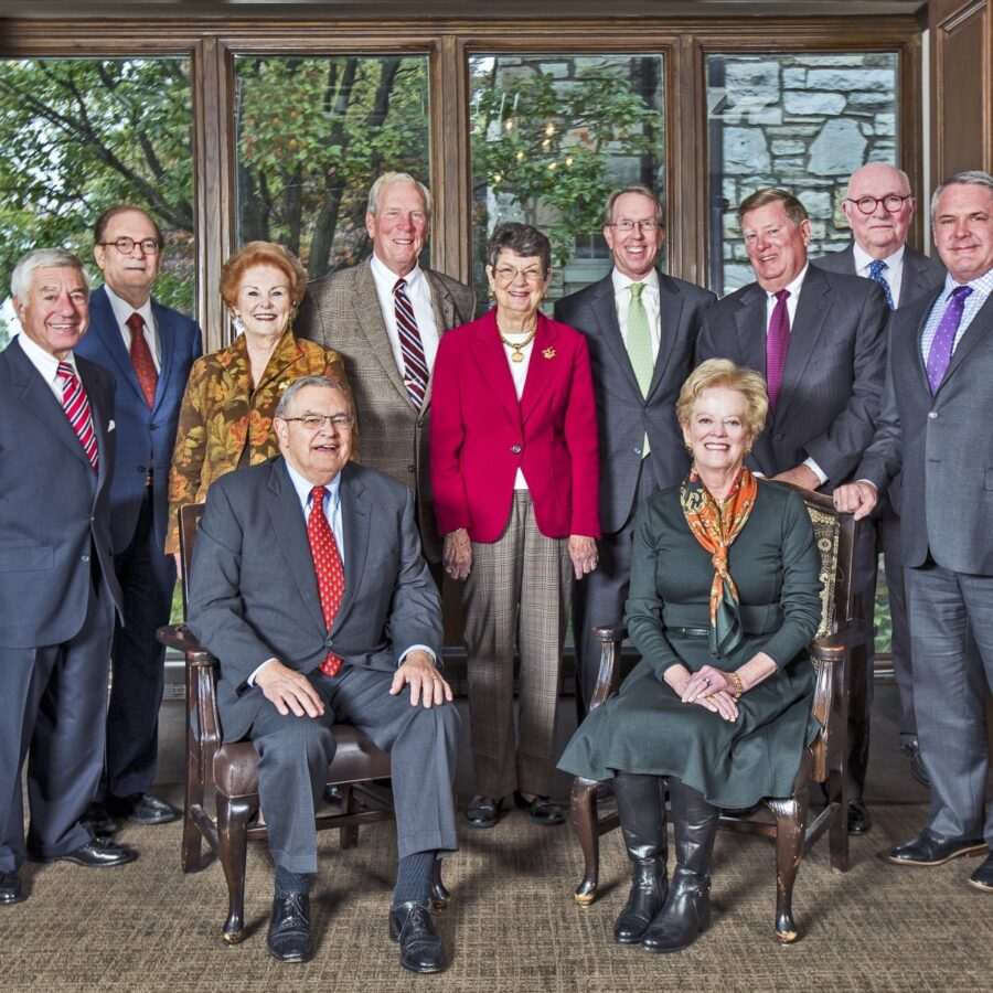 A photo of the 11 members of the Bethesda Health Group Foundation