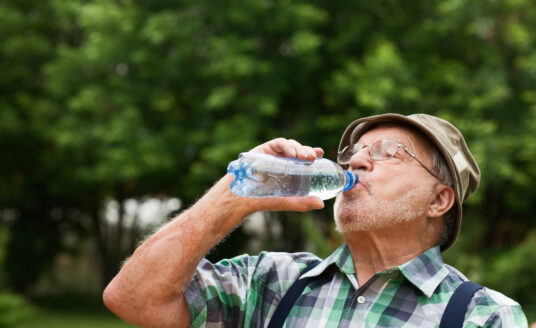 Summer heat and senior safety tips include drinking plenty of water and staying out of the sun.